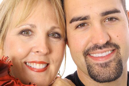 mother and son headshot photo