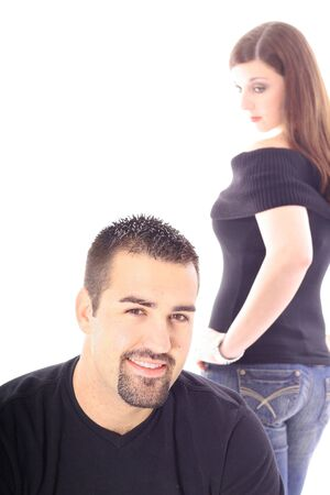 looking at the attractive male Stock Photo - 7221799