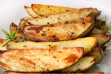 wedges: roasted rosemary garlic potato wedges