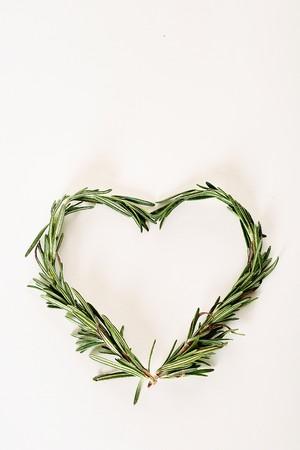 rosemary sprigs heart