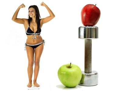 weight loss workout apples in bikini photo