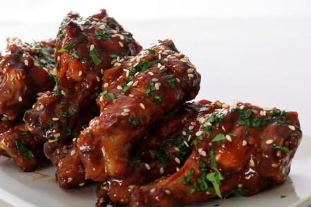 alitas de pollo: alas de pollo barbacoa asi�tica