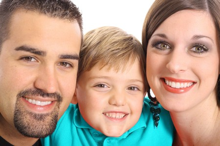 beautiful family portrait aqua photo