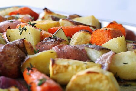 Roasted vegetables with thyme
