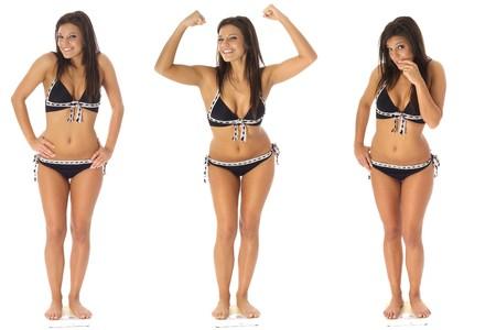 weightloss triplets Reklamní fotografie