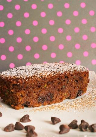 calorie rich food: chocolate zuchini bread 6463 polka dots Stock Photo