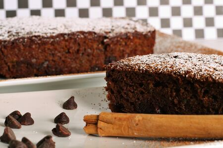 chocolate zuchinni bread 写真素材