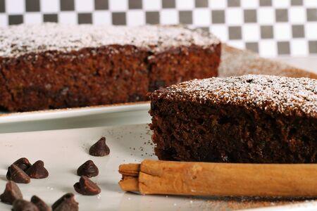 calorie rich food: chocolate zuchinni bread Stock Photo