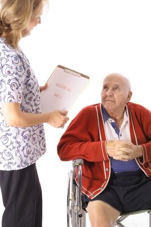 elderly patient talking to nurse Stock Photo - 7356002