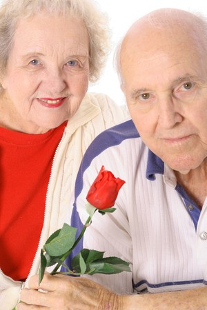 Senior valentines portrait