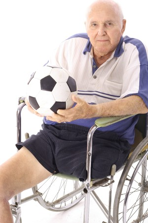 disabled sports: senior soccer