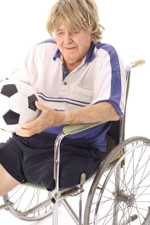 amputation: cool soccer dude