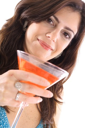woman with cocktail angle