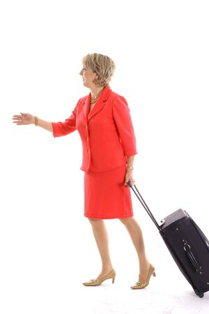 woman walking with luggage Reklamní fotografie