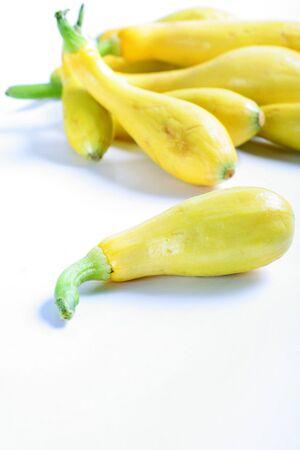 fresh yellow squash from the garden vertical Reklamní fotografie