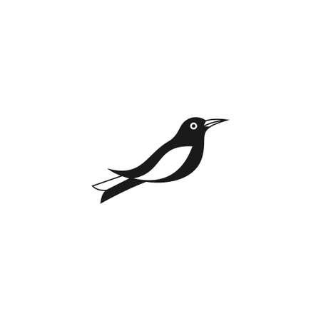 bird logo vector icon template mono-line color line art outline Logo