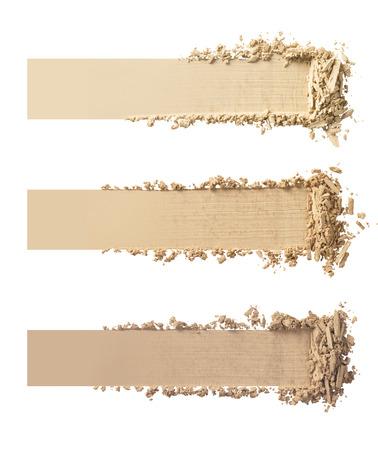 Shade of Make-up Puder auf weißem Hintergrund