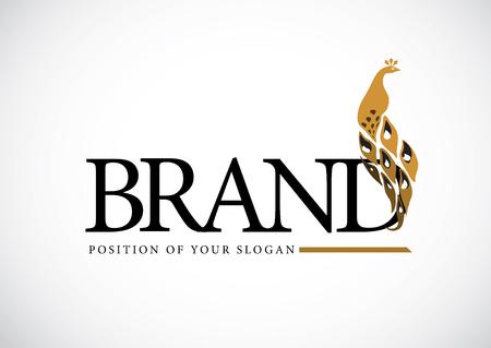 Peacocks Vektor Logo-Design. Kreatives Konzept Logo für Ihr Unternehmen.