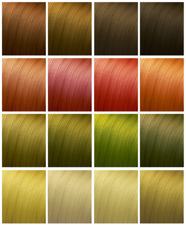 colours tints: Variety shades of hair colors.