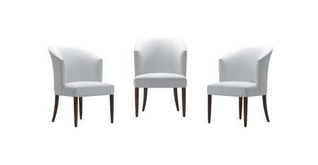 Chairs set isolated with clipping mask. Stock Photo