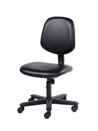 Black swivel chair isolated on white background with clipping path.