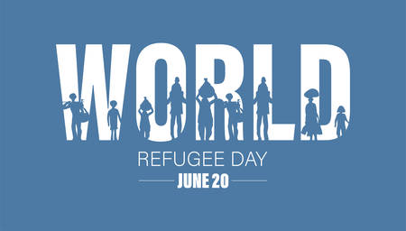 World Refugee Day. Concept of social event. 20 June-vector. International immigration concept background. Flat illustration or vector concept background for web design, banner or card.