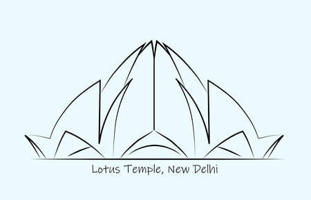 lotus design on a temple abstract line work