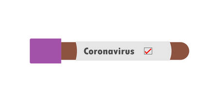 Coronavirus covid 19 infected blood vial. Corona virus covid 19 research laboratory, coronavirus covid-19 vaccine research