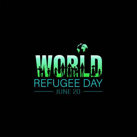 World Refugee Day. Concept of social event. 20 June-vector. International immigration concept background. Flat illustration or vector concept background for web design, banner or card.