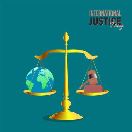 vector illustration for international Justice day observed on July 17. poster, card, or banner design. Vektorové ilustrace