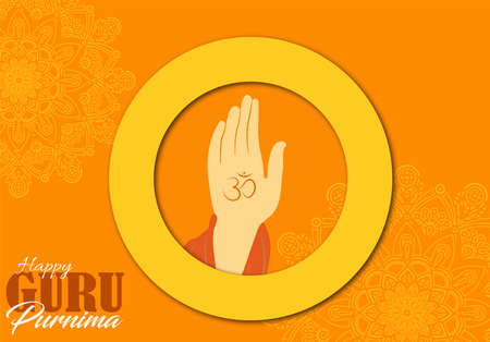 Vector Illustration of Guru Purnima which is observed in in India and Nepal.