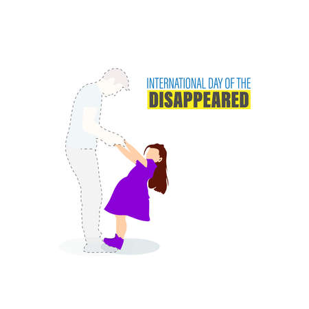 Vector Illustration of International day of the victims of enforced Disappearances. August 30. International day of disappeared.