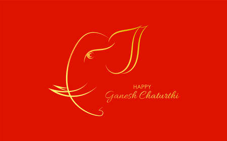 Vector Illustration of Lord Ganpati abstract background for Ganesh Chaturthi festival of India abstract design Banco de Imagens - 153072753