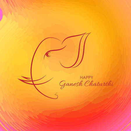 Vector Illustration of Lord Ganpati abstract background for Ganesh Chaturthi festival of India abstract design