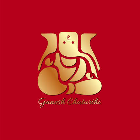 Vector Illustration of Lord Ganpati abstract background for Ganesh Chaturthi festival of India. Banco de Imagens - 153529140
