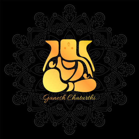 Vector Illustration of Lord Ganpati abstract background for Ganesh Chaturthi festival of India.