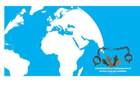 Vector Illustration of International Day for the Remembrance of the Slave Trade and Its Abolition. August 23.