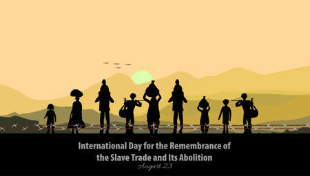 Vector Illustration of International Day for the Remembrance of the Slave Trade and Its Abolition. Vector Illustratie