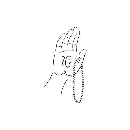Vector Illustration for Guru Nanak Jayanti the birth anniversary of Guru Nanak dev ji. Abstract design. Vektorové ilustrace