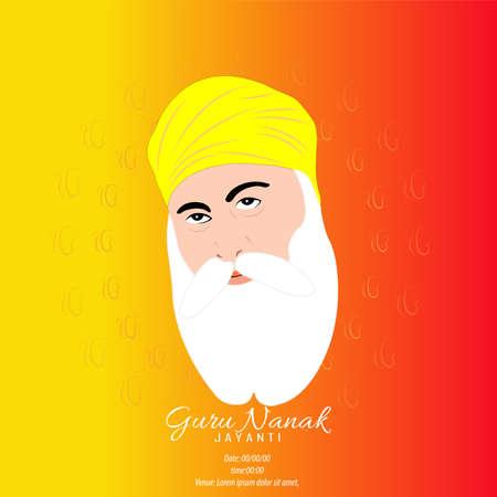 Vector Illustration for Guru Nanak Jayanti the birth anniversary of Guru Nanak dev ji. Abstract design.