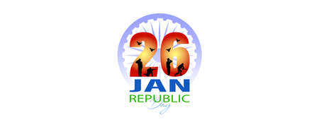 Vector illustration for Happy Republic Day of India celebration (26 January) abstract