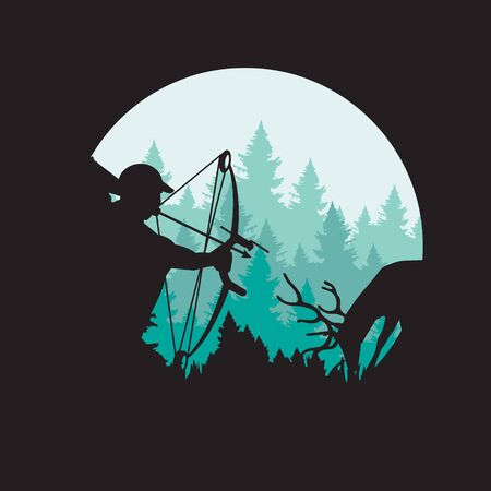 Bow Hunting logo. for adventure sport and survival logo