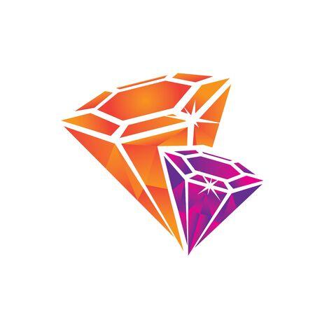 Diamonds logo jewellery clip art design. editable format 일러스트