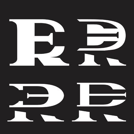 ER or RE monogram logo set Illusztráció