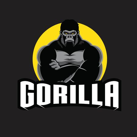 Gorilla vector illustration. can be used as logo, tshirt printing. or any other purpose.