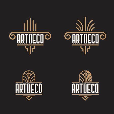 Art Deco ornaments logo template  イラスト・ベクター素材