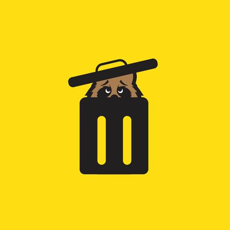 raccoon in trash can clip art