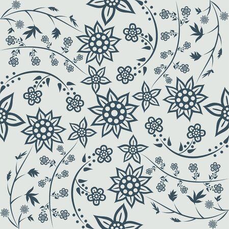 Floral Pattern . Javanese Batik modern style. vector.