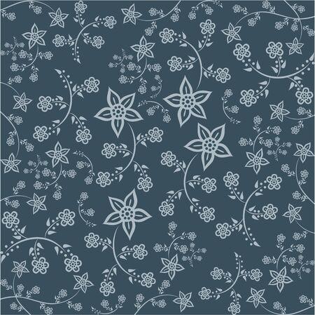 Floral Pattern. Javanese Batik style version 2 bright vector