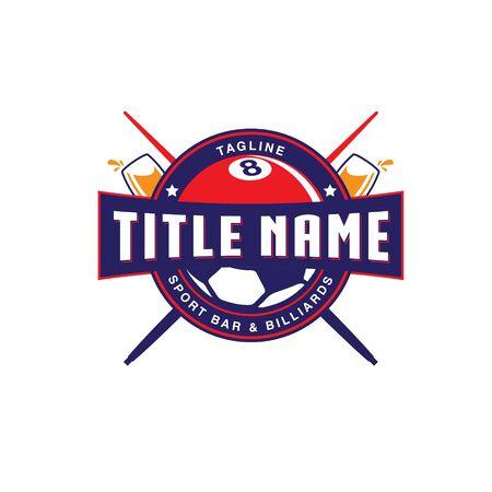 Sport Bar emblem logo Illusztráció